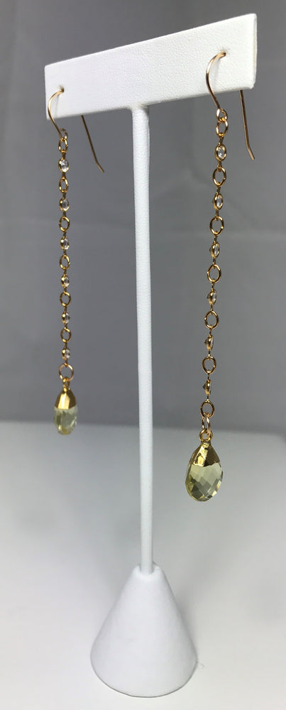 Celina Citrine and Swarovski Earrings