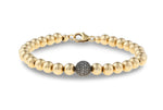 Isla Round Diamond and Gold Bracelet