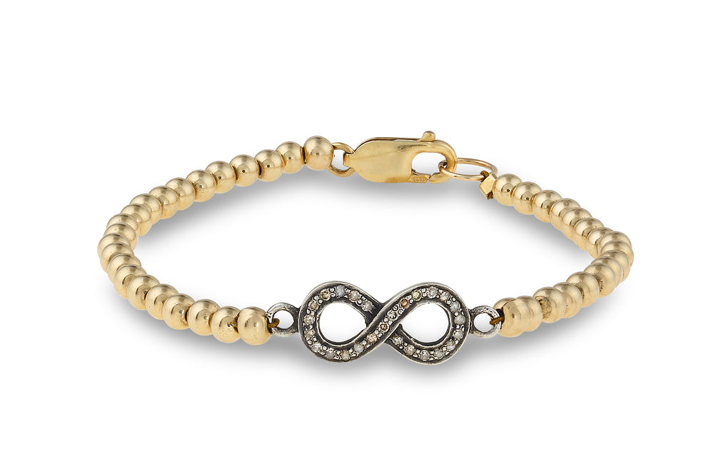 Isabella Infinity Diamond and Gold Bracelet