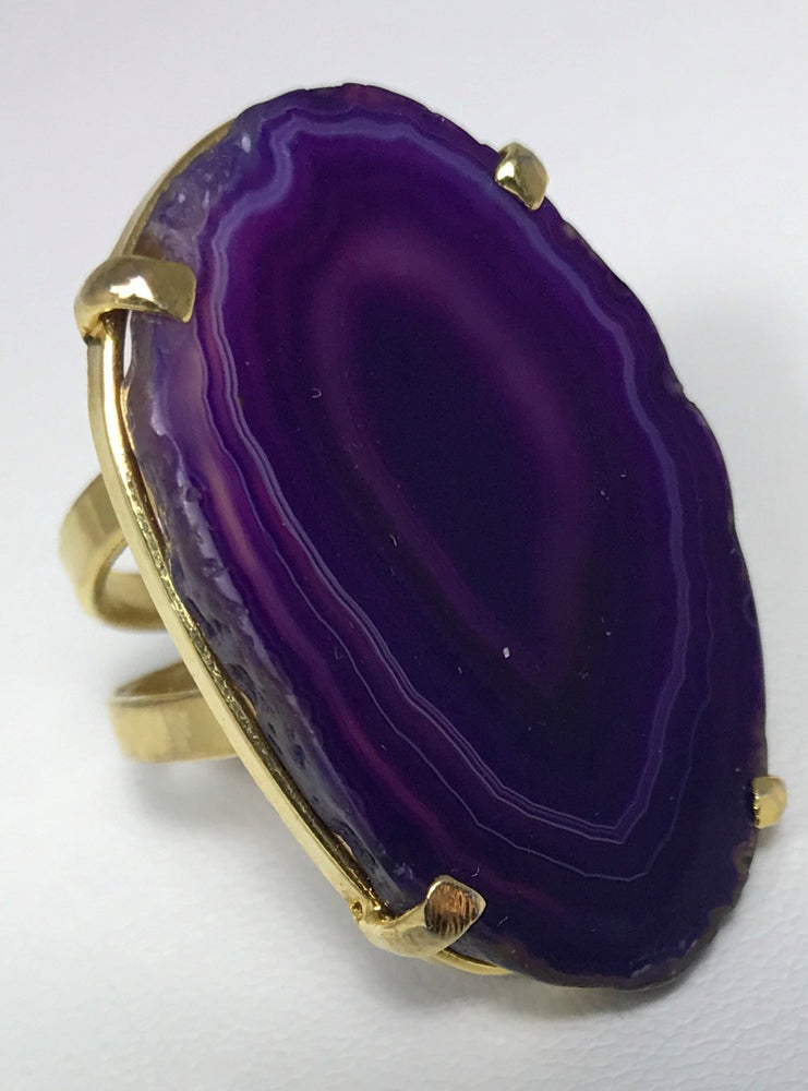 Purple Agate Ring