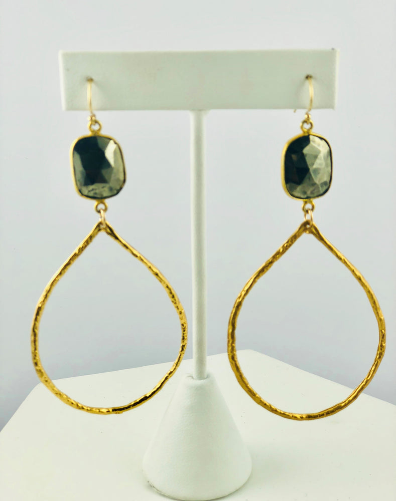 Sofie Pyrite Hoop Earrings