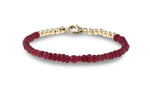 Bella Ruby and Gold Bracelet