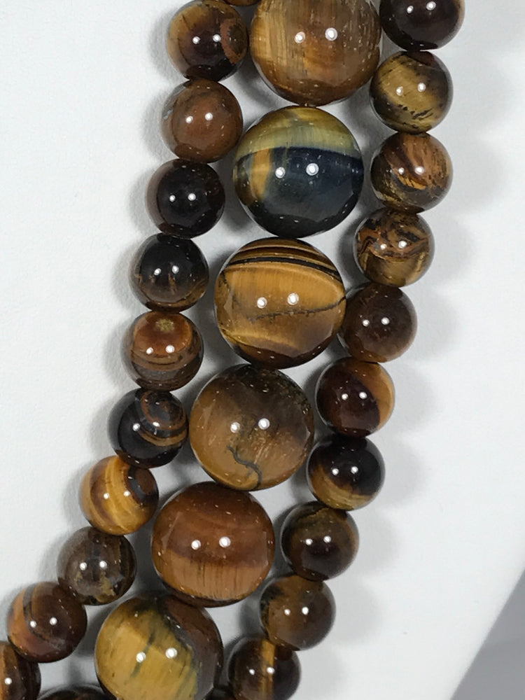 Multi-strand Tigers Eye Statement Necklace