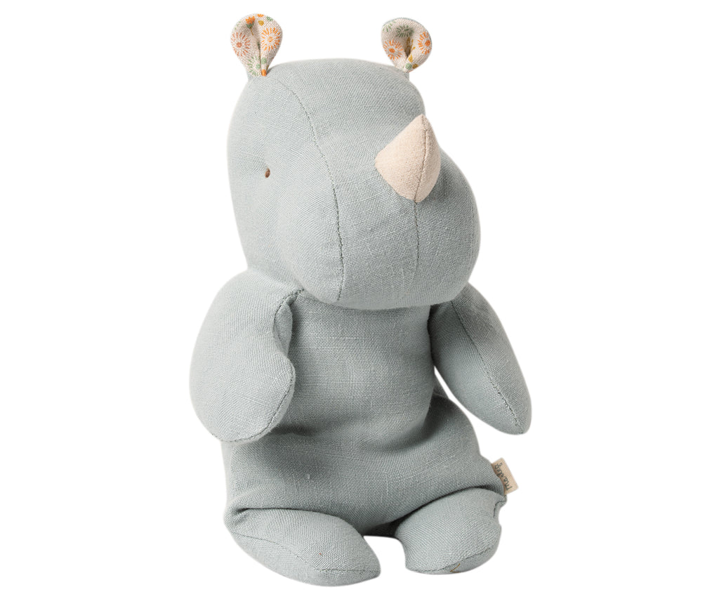 Maileg Safari Friend, Small Rhino - Blue/Grey