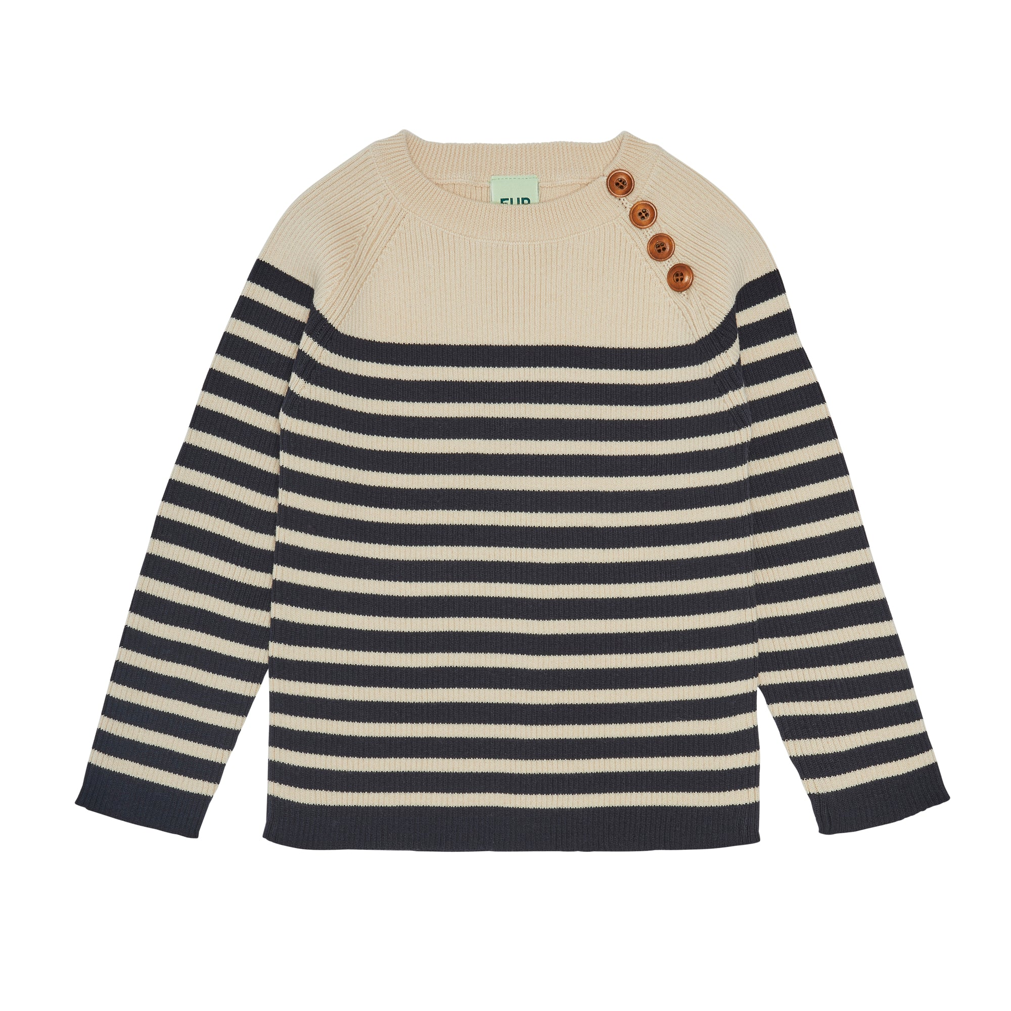 FUB Sweater ecru/dark navy