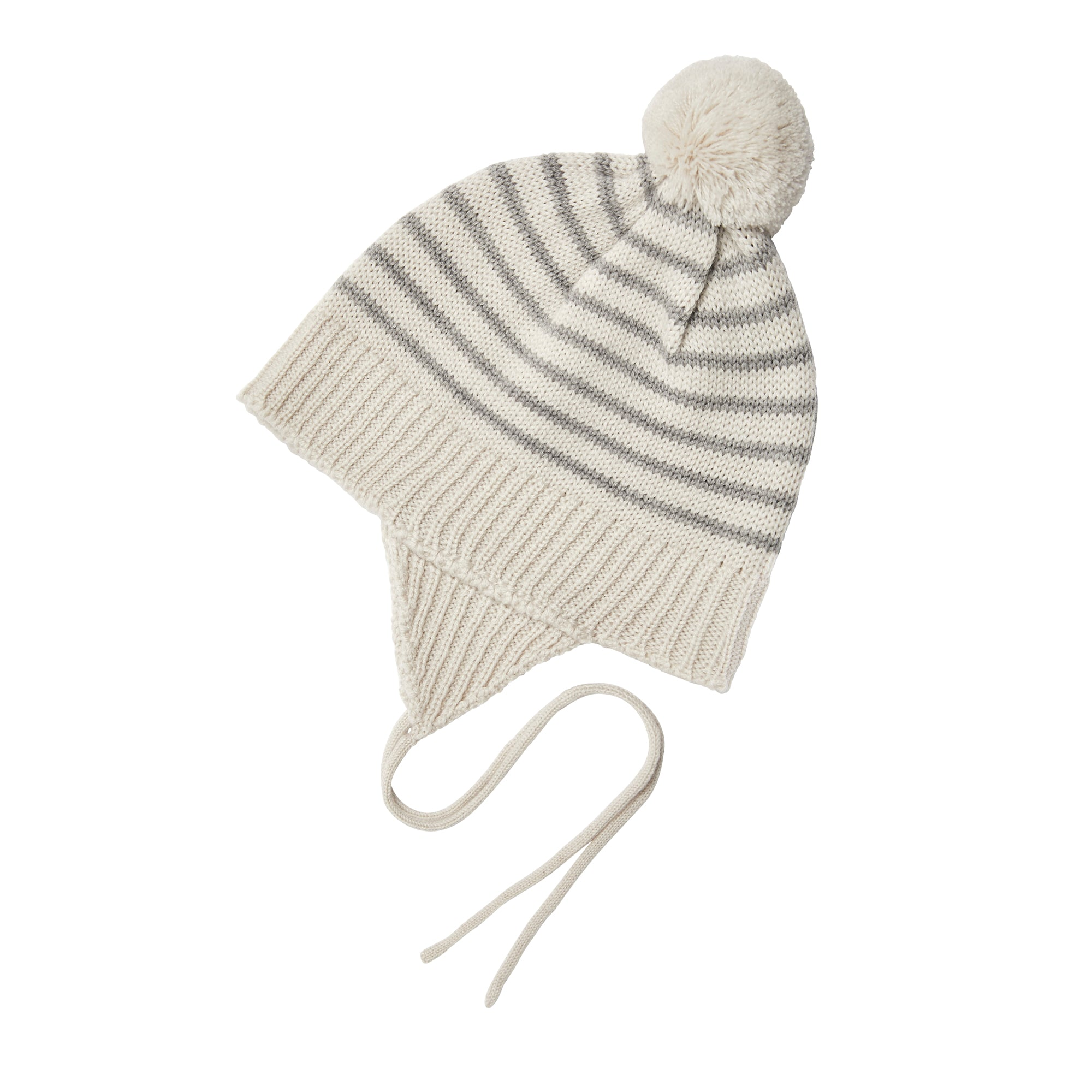 FUB Baby Pompom Ecru/Light Grey