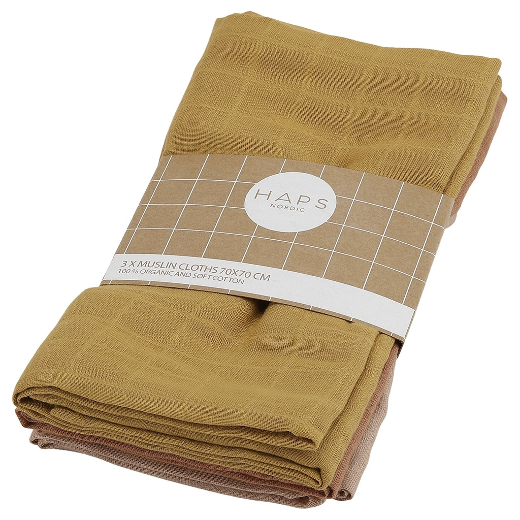 Haps Nordic Sui Muslin Cloths, Warm
