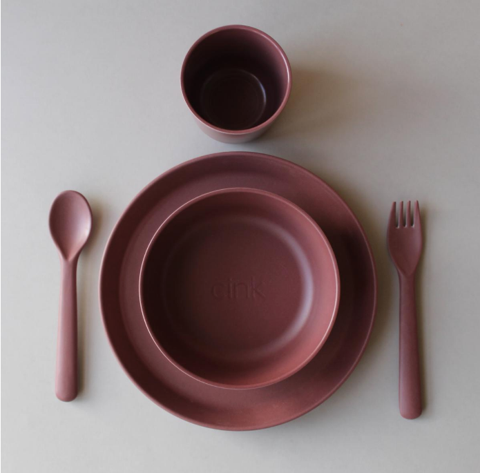Cink Toddler Giftbox - Bamboo Dinnerware Set, Beet
