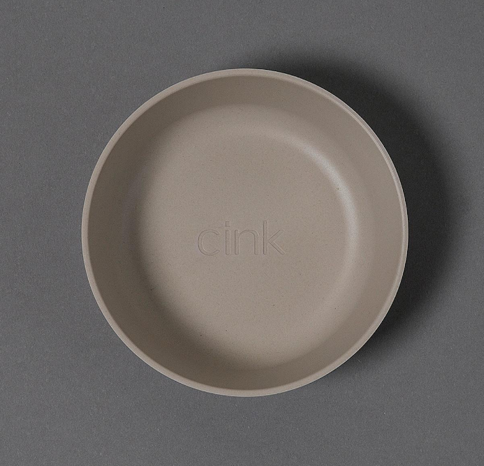 "Cink Bamboo Bowl ""Fog/Rye/Brick"" set of 3"