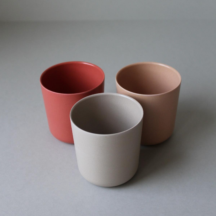 "Cink Bamboo cup ""Fog/Rye/Brick"" set of 3"