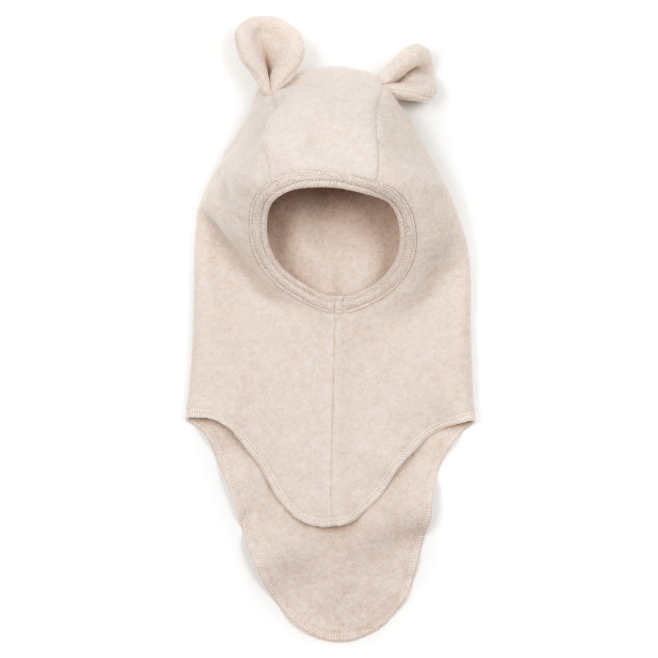 Huttelihut Teddy Balaclava Cotton Fleece Camel