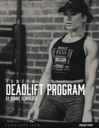Bonschro - 16 Week Deadlift Program