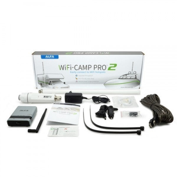 Alfa Network CampPro2 Universal WiFi Kit/ Internet Range Extender Kit for  Home, Boat, and RVs