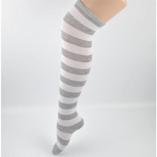 Dorothy Gray Pastel Goth Striped Stockings
