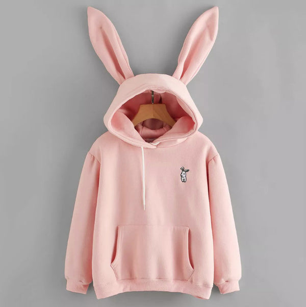 Love My Bunny Pastel Goth Baby Pink Hoodie