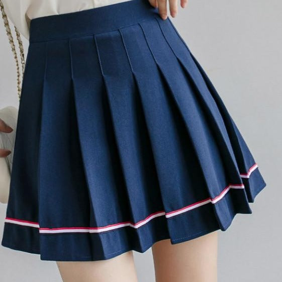 Marie Mon Petit Pastel Goth Pleated Mini Skirt