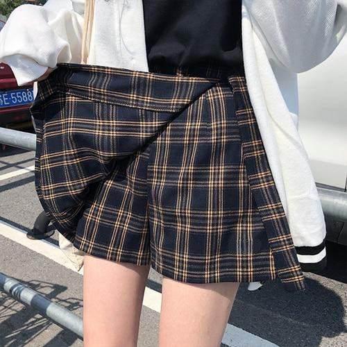 Shirley Brown Pastel Goth Pleated Plaid Mini Skirt