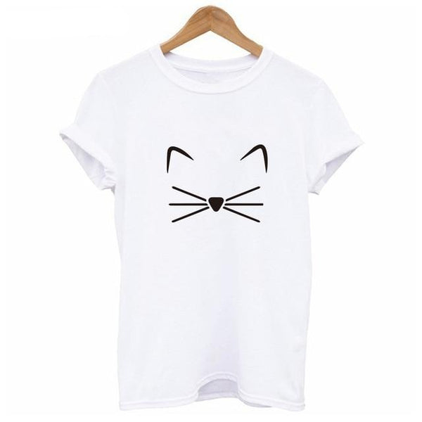 Kawaii White Kitty Pastel Goth T-Shirt