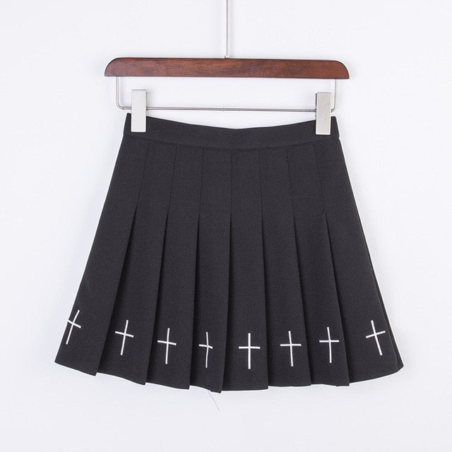 Holy Crosses Pastel Goth Mini Skirt