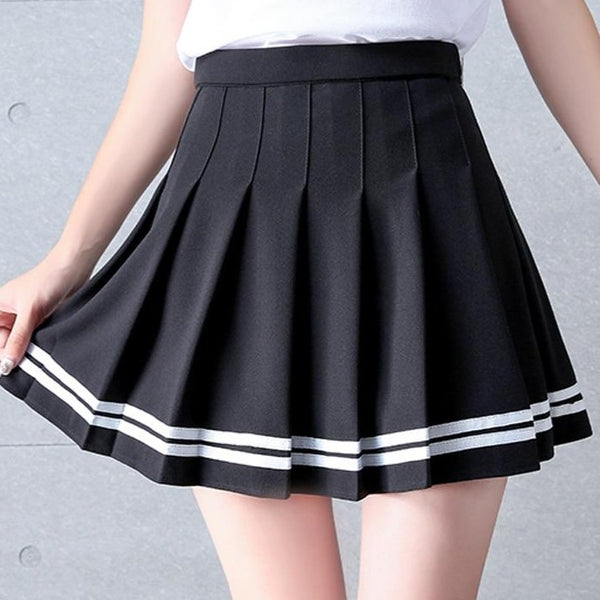 Lindsay Star Pastel Goth Pleated Mini Skirt