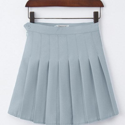 Sophy Gray Pastel Goth Pleated Mini Skirt