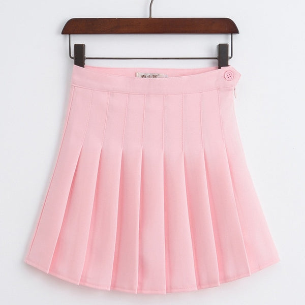 Sophy Pink Pastel Goth Pleated Mini Skirt