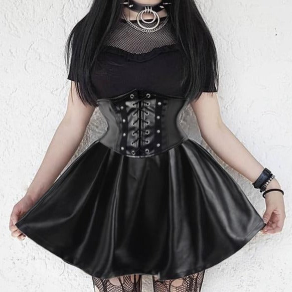 Rowan Doll Pastel Goth Corset Mini Skirt