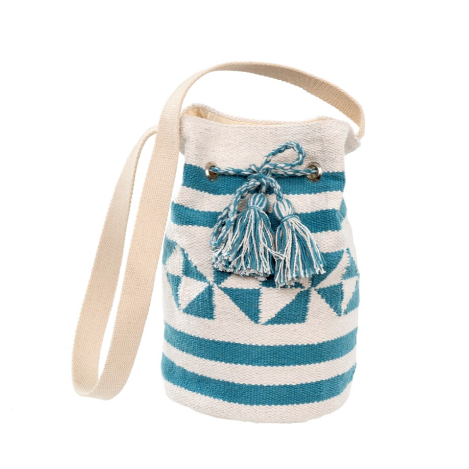 Surf Stripe Bucket Bag, Blue