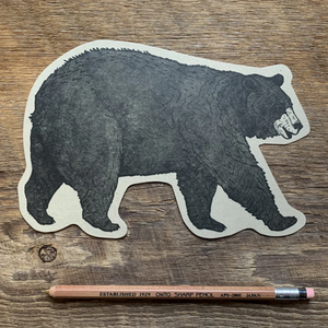 Postcard, Black Bear