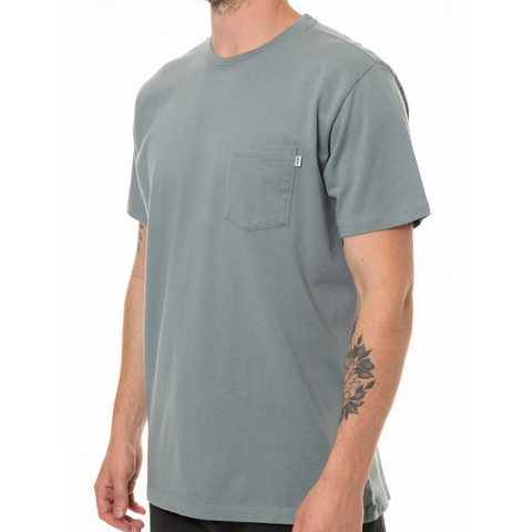 Men's Pocket Tee, Light Blue