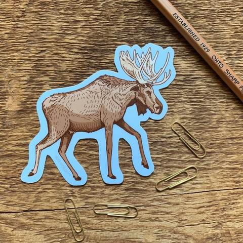 Vinyl Sticker, Moose