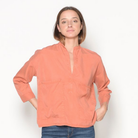 Pullover Blouse- Rust
