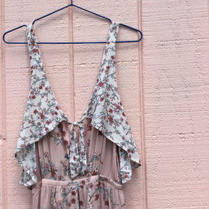 Sweet Sakura Maxi Playsuit, Light Pink