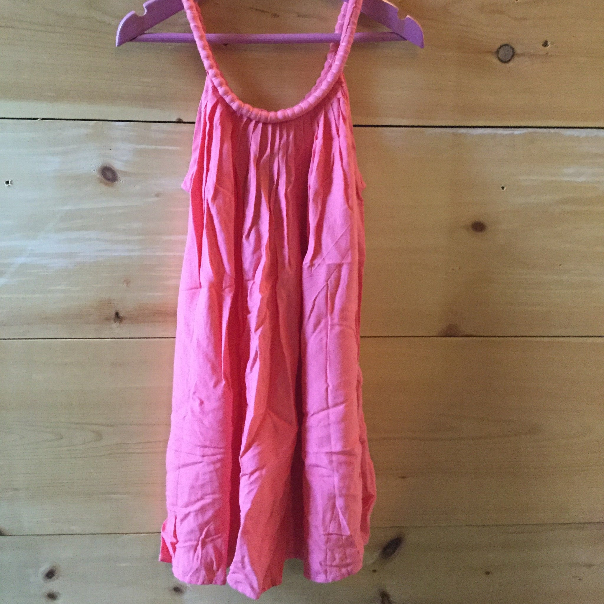 Girls Woven Dress, Coral