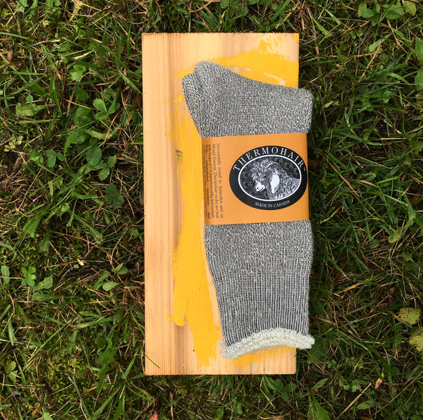 Thermohair Sock, Ladies and Men's- Grey