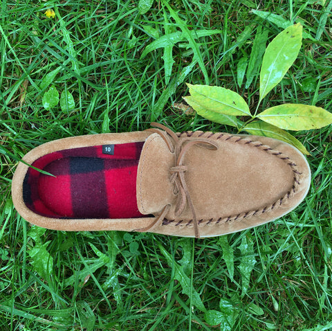 Men's Moccasins, Suede, Polar Lined