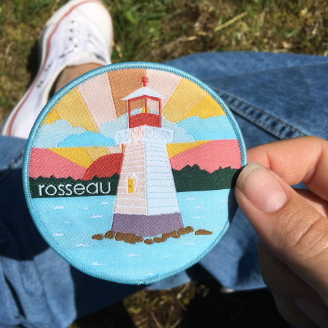 Rosseau Lighthouse Patch and Postcard