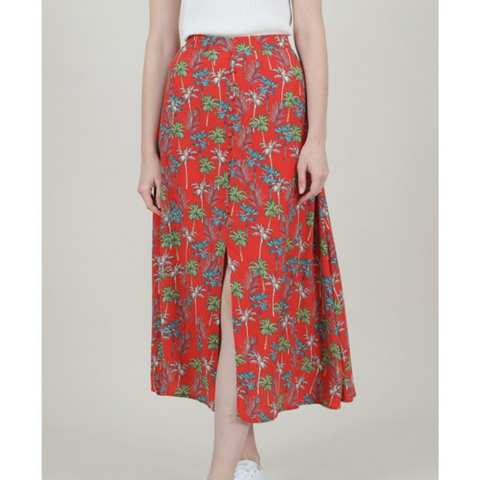 Ladies Woven Skirt, Palm Tree