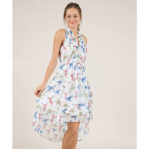 Ladies Woven Dress, Parrots