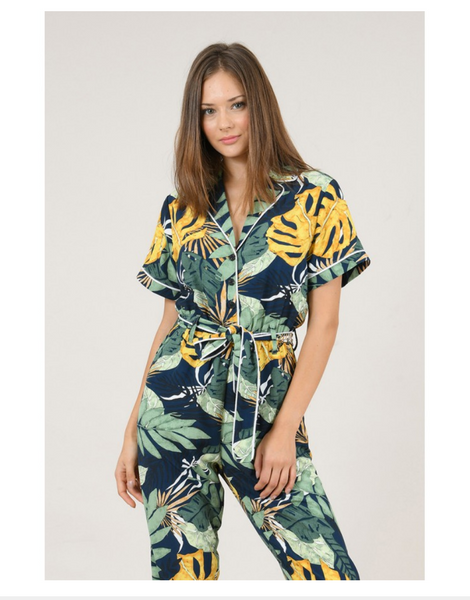 Ladies Woven Jumpsuit, Tropical