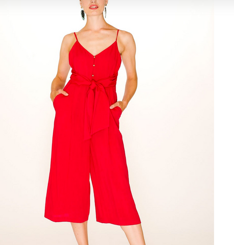 Nina Playsuit, Red