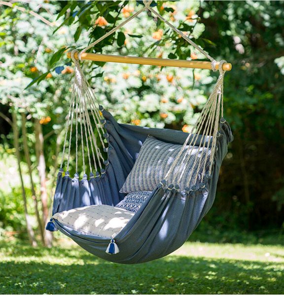 Denim Hammock Chair (Pillows not included)