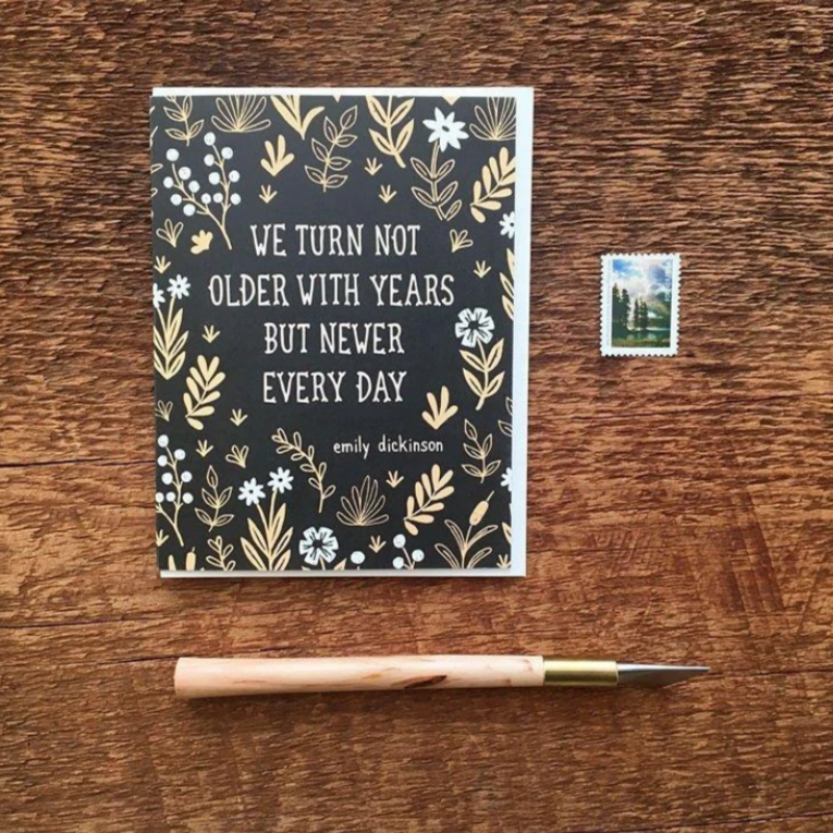 Birthday Card, Emily Dickinson