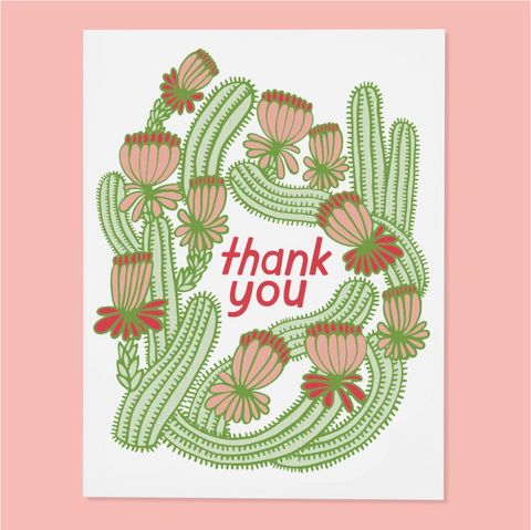 Greeting Card, Cactus Thank you