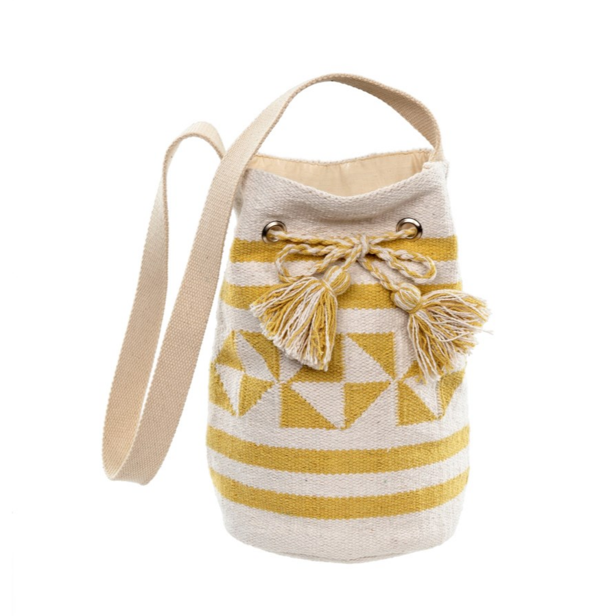 Surf Stripe Bucket Bag, Yellow