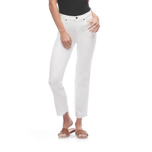 Chloe Crop, White Dove