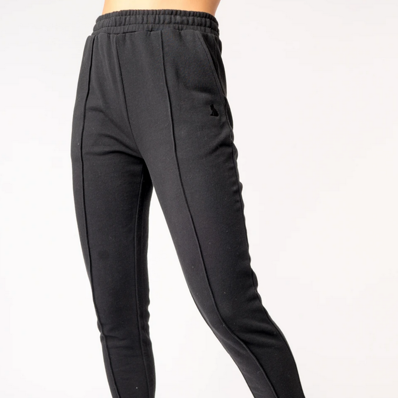 Pintuck Sweatpant, Black