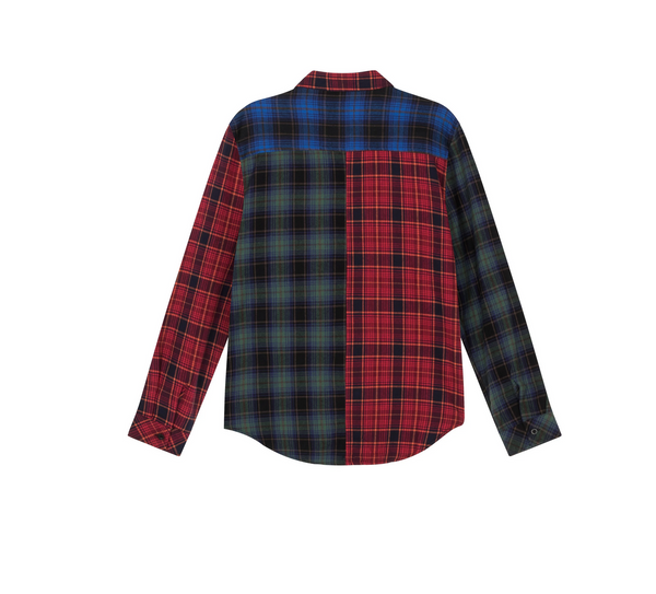 Colour Block Proper Plaid Shirt