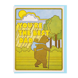 Greeting Card- Best Dad Hiking Bears