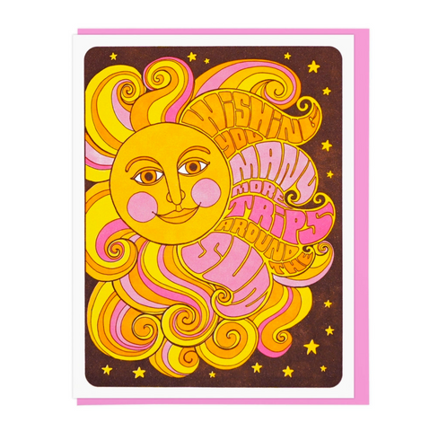 Greeting Card- Many More Trips Around the Sun Birthday